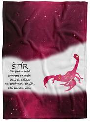 Deka Štír (23.10. - 22.11.) - červená