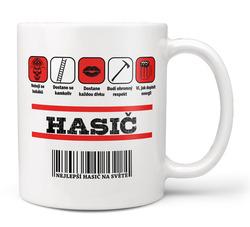 Hrnek Hasič - čárový kód