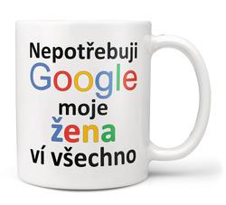 Hrnek Google - Žena