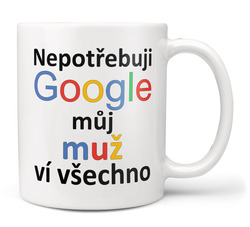 Hrnek Google - Muž