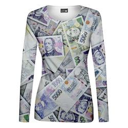 Tričko Peníze – dámské (dlouhý rukáv)