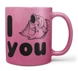 Hrnek I fish you – růžový