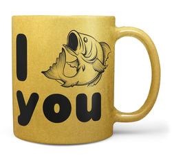 Hrnek I fish you – zlatý