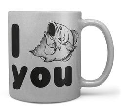Hrnek I fish you – stříbrný