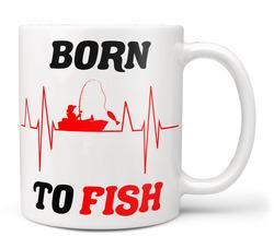 Hrnek Born to fish