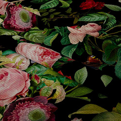 Nepromokavá tkanina – Flowers
