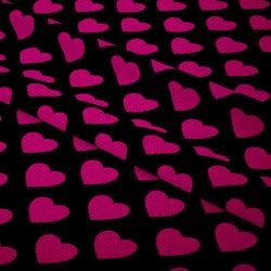 Nepromokavá tkanina – Heart FLUO
