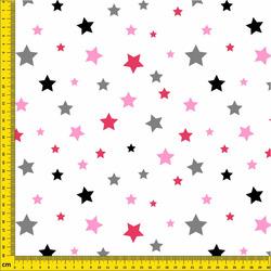 Nepromokavá tkanina – Stars (pink)