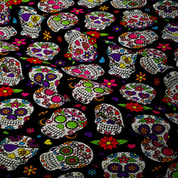 Nepromokavá tkanina – Mexican skull