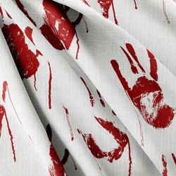 Strukturovaná tkanina – Bloody hand