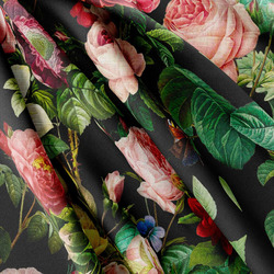 Strukturovaná tkanina – Flowers