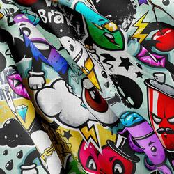 Strukturovaná tkanina – Graffiti