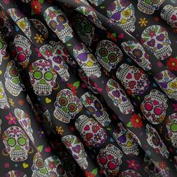 Strukturovaná tkanina – Mexican skull