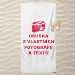 Osuška z vlastních fotografií a textů