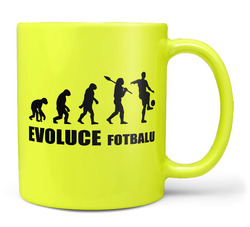 Hrnek Evoluce fotbalu - fluo