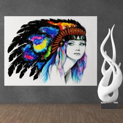 Obraz Space Indiánka Art