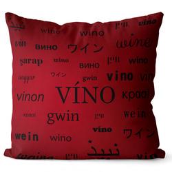 Polštář Víno – jazyky