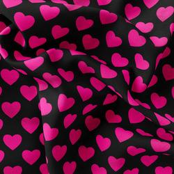 Mikroplyš – Heart FLUO