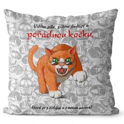 Polštář Pořádná kočka
