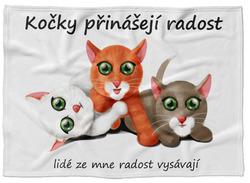 Deka Kočky přinášejí radost