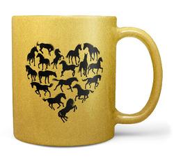 Hrnek Horse heart – zlatý