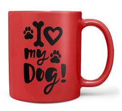 Hrnek I love my dog – červený