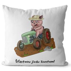 Polštář Prasátko a traktor
