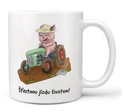 Hrnek Prasátko a traktor