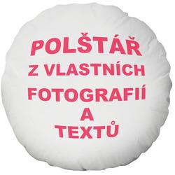 Fotopolštář kulatý Ø 40cm ∞ fotografií a textů