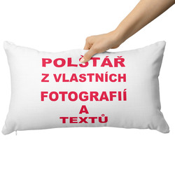 Fotopolštář 65x30cm ∞ fotografií a textů