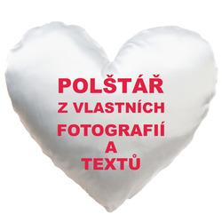 Fotopolštář Srdce 36x36cm ∞ fotografií a textů