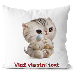 Polštář s vlastním jménem - kočička