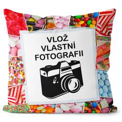 Fotopolštář Bonbony 40x40 cm