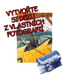 Deka z vlastních fotografií a textů Fleece 140x200cm/360g pro milovníky letectví