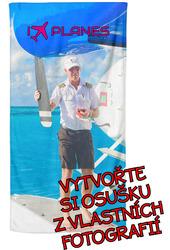 Osuška z vlastních fotografií a textů pro milovníky letectví