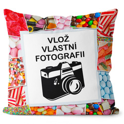 Fotopolštář Bonbony 55x55 cm
