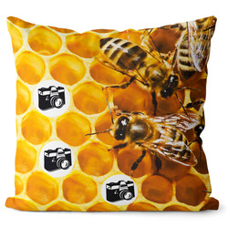 Fotopolštář Včely 55x55 cm