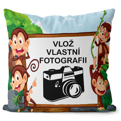 Fotopolštář Monkeys 55x55 cm
