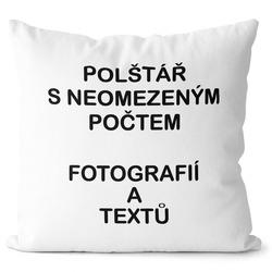 Fotopolštář 55x55cm ∞ fotografií a textů