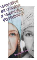 Osuška z vlastních fotografií a textů pro ségry