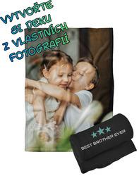 Deka z vlastních fotografií a textů Fleece 140x200cm/360g pro bráchy