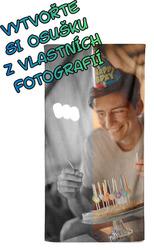 Osuška z vlastních fotografií a textů pro bráchy