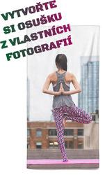 Osuška z vlastních fotografií a textů pro fitness a jógu