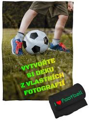 Deka z vlastních fotografií a textů Fleece 140x200cm/360g pro fotbalisty