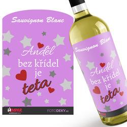 Víno Anděl bez křídel je teta