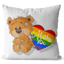 Polštář LGBT I love you