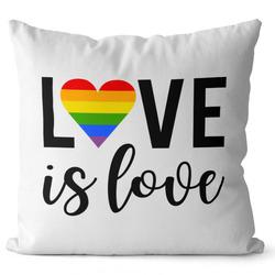 Polštář LGBT Love is love