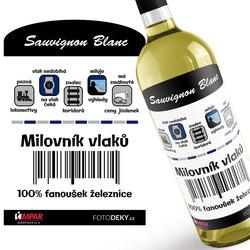 Víno Milovník vlaků 100%