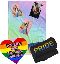 Deka z vlastních fotografií a textů Fleece 140x200cm/360g pro LGBT