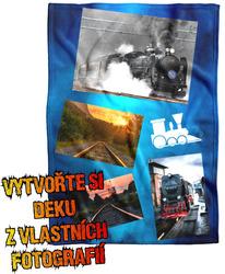 Deka z vlastních fotografií a textů Fleece 140x200cm/360g pro milovníky vlaků